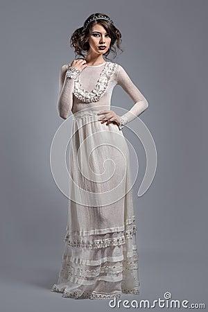 Elegant woman indoors