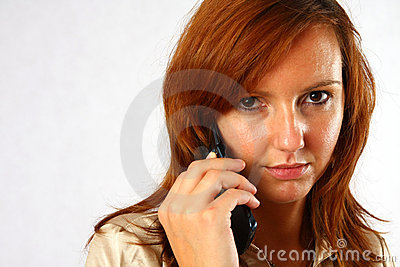 Elegant woman on the phone