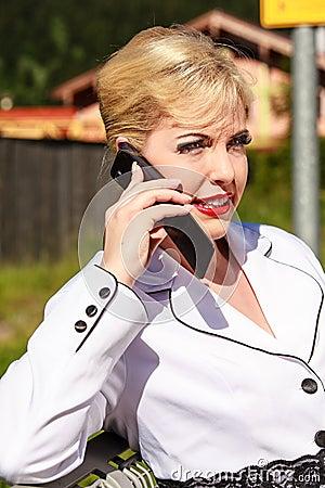 Elegant Woman at phone