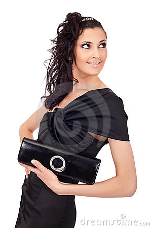 Elegant woman with purse