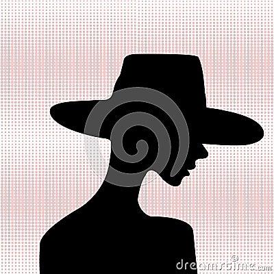 Elegant woman silhouette