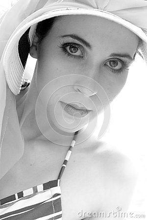 Elegant woman wearing heat