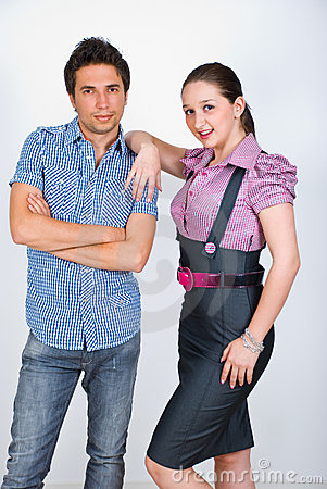 Elegant young couple