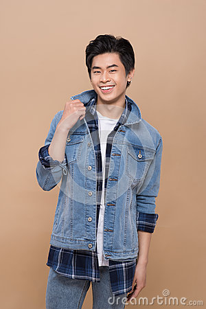 Free Elegant Young Handsome Asian Man. Cool Fashion Male Model. Royalty Free Stock Photo - 89691945