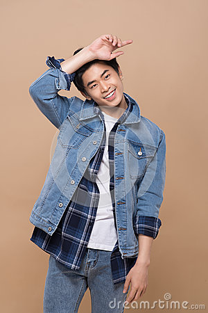 Free Elegant Young Handsome Asian Man. Cool Fashion Male Model. Royalty Free Stock Images - 89691989