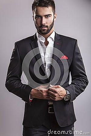 Free Elegant Young Handsome Man. Studio Fashion Portrait. Stock Photo - 34355120