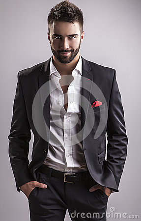Free Elegant Young Handsome Man. Studio Fashion Portrait. Stock Photos - 34355383