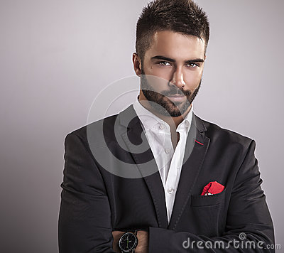 Free Elegant Young Handsome Man. Studio Fashion Portrait. Stock Image - 34588771