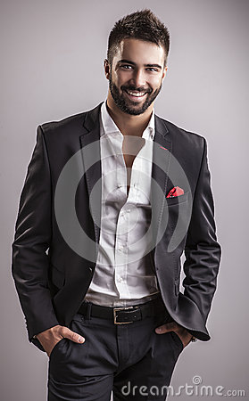 Free Elegant Young Handsome Man. Studio Fashion Portrait. Stock Photos - 34790423