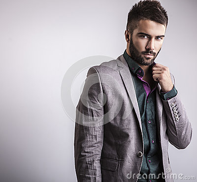 Free Elegant Young Handsome Man. Studio Fashion Portrait. Stock Photography - 34791772