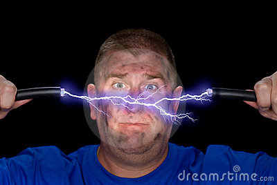 Elektryczny łuku mężczyzna