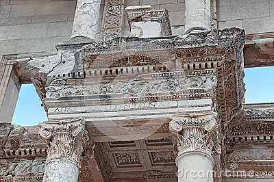 Element of Celsus Library, Ephesus, Turkey