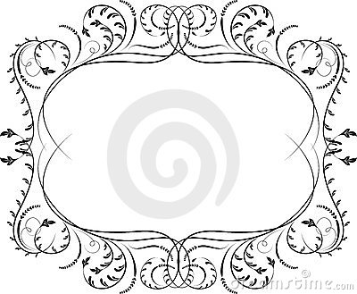 Element for design, corner flower, vector