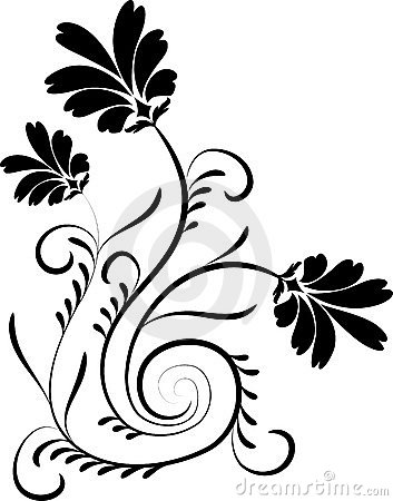 Element for design, flower, vector