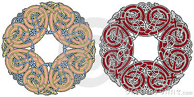 Element för design för djurfåglar celtic