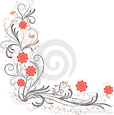 Free Element For Design, Corner Flower, Vector Royalty Free Stock Photos - 1319438