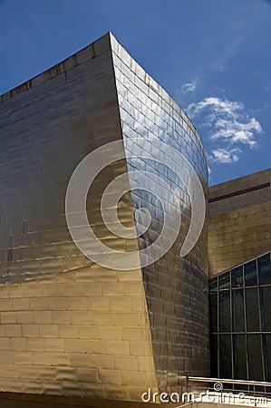 Element of Guggenheim Museum in Bilbao Editorial Stock Image