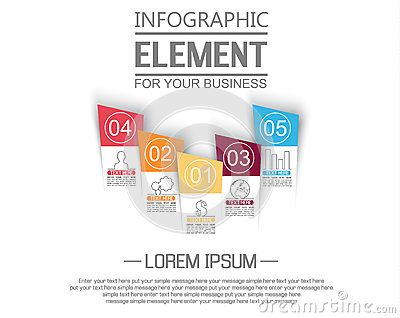 Element For Infographic Chart Template Geometric Figure Stikers – Element Chart Template