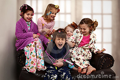 Elementary Girl s Slumber Party Hair Rollers