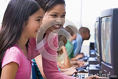 Elementary school computer class