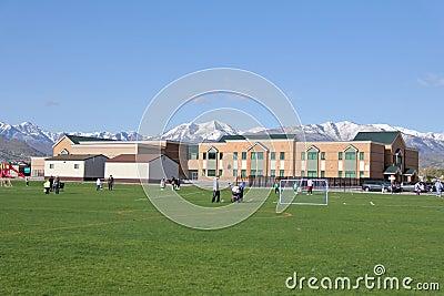 Elementary School in Utah Editorial Photo