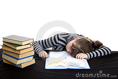 Elementary student fall a sleep