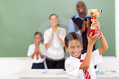 Elementary student trophy