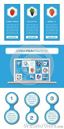 Elemente Ui, des infographics und des Netzes