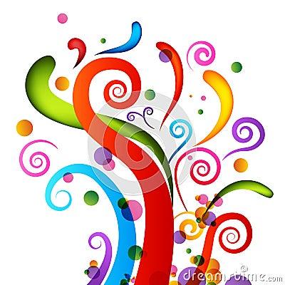 Elementi dei coriandoli di celebrazione