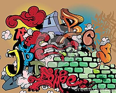 Elementi di alfabeto dei graffiti fotografia stock for Immagini graffiti hd