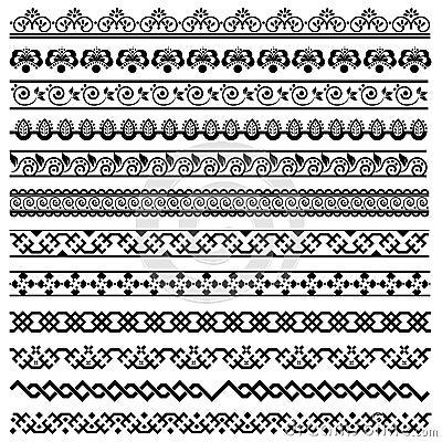 Elementi di disegno della decorazione del bordo