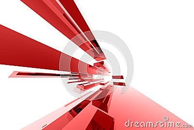 Elementi di vetro astratti 039
