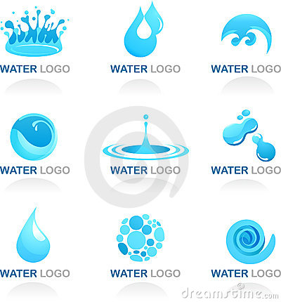 Elemento da água e do projeto da onda