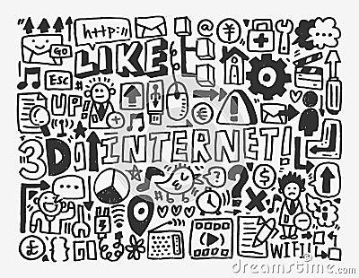 Elemento de rede da garatuja