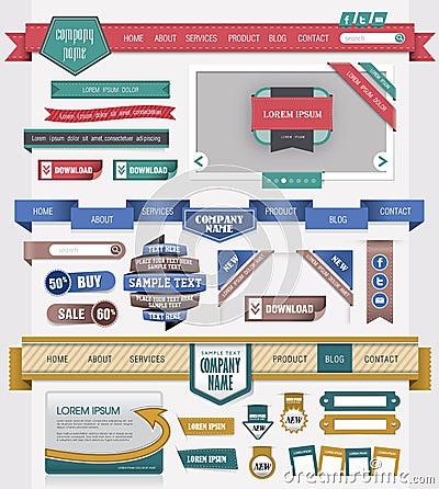 Elemento del diseño de Web
