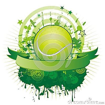 Elemento del diseño del tenis