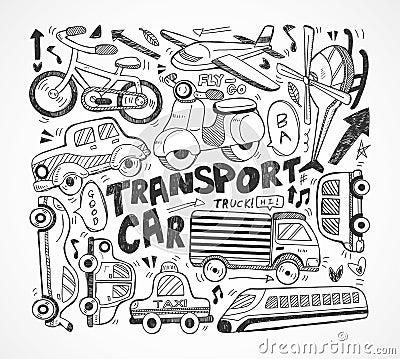 Elemento del transporte del Doodle