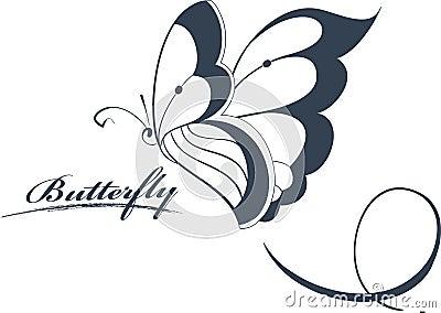 Elemento di disegno della farfalla