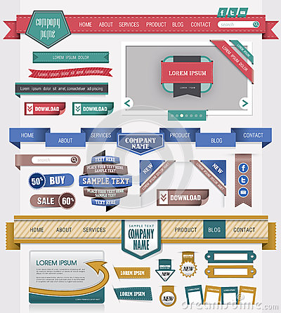 Elemento di disegno di Web