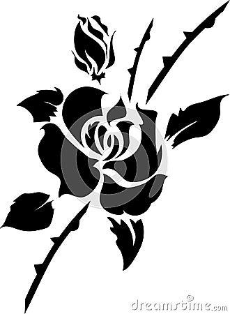 Elemento di disegno floreale