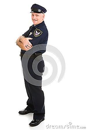 Elemento do projeto do oficial de polícia