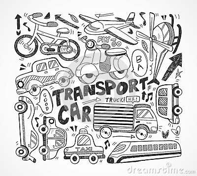 Elemento do transporte do Doodle