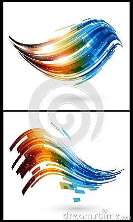 Elementos de cor para o fundo abstrato