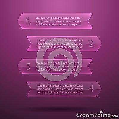 Elementos de cristal del infographics