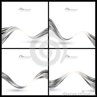 Elementos de plata abstractos para el fondo