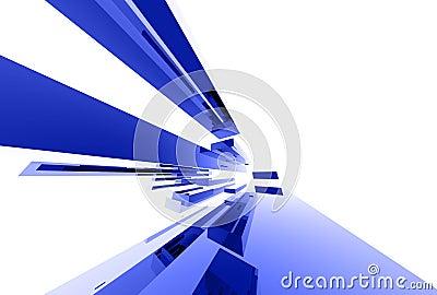 Elementos de vidro abstratos 037