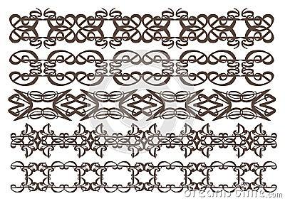 Elementos decorativos del diseño del vintage
