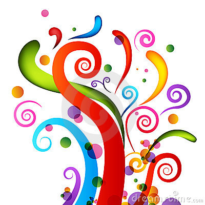 Elementos del confeti de la celebración