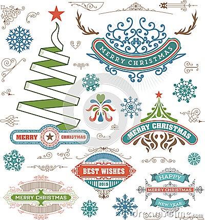 Elementos Del Dise O De La Decoraci N De La Navidad Feliz