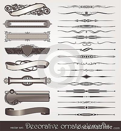 Elementos del diseño y decoraciones de la paginación